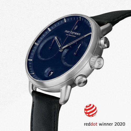 北歐藍錶盤、月光銀錶殼