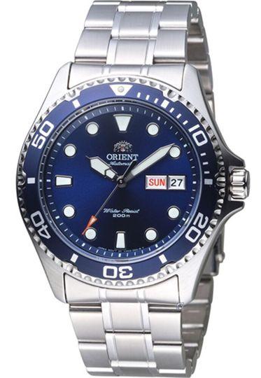 搭載F6922機芯的Orient東方錶Ray II 藍面銀帶(faa02005d9)