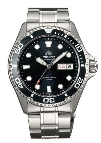 搭載F6922機芯的Orient東方錶Ray II 黑面銀帶(faa02004b9)