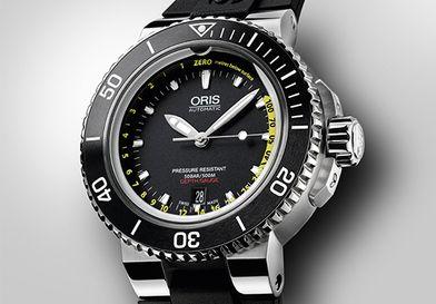 Oris 劃時代的開孔手錶,可測量水深