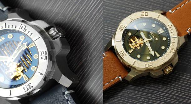 法柏錶海洋潛將系列腕錶示意圖