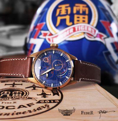 雷虎66週年三針一線限定錶款