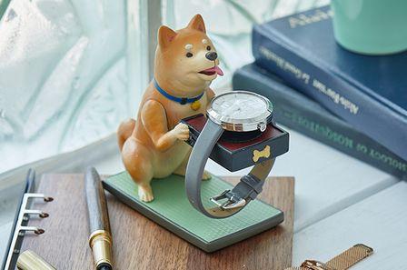 Fiber柴犬造型手錶收納座