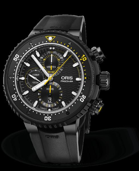Oris Dive Control 計時功能限量錶