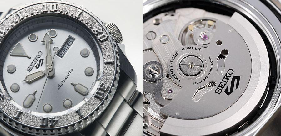 Seiko 4R36機芯圖與搭載該機芯的一支腕錶