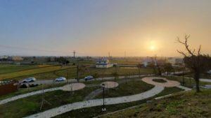 錦山公園看到的夕陽景致