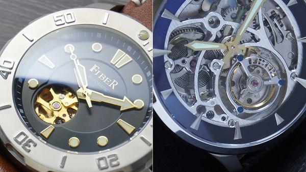 手錶品牌推薦: Fiber法柏錶示意圖,左、右都是Fiber的手錶款式