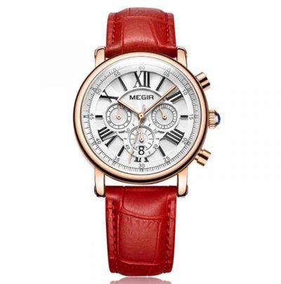 台灣手錶推薦品牌Gorgeous MG2058的羅馬經典三眼女錶