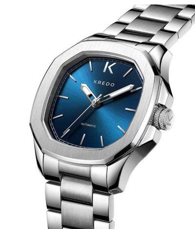 手錶推薦: Klein OTUS 藍,是一支藍色面盤、銀色錶殼錶帶的手錶