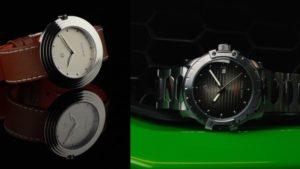 Nove品牌示意圖,我最推薦的手錶品牌,圖中兩支錶是Nove的推薦手錶款式,左側為白色面盤、銀色錶殼、棕色錶帶的Nove streamliner,右側是黑色面盤、銀色錶殼錶帶的Nove Modena