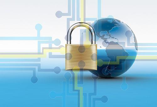圖片中間有個鎖頭,用以示意有加密功能的VPN協定