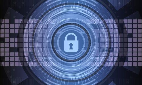 圖片中間有個鎖頭圖案,背景為方格狀帶有網路資訊的感覺,示意VPN的加密演算法/協議